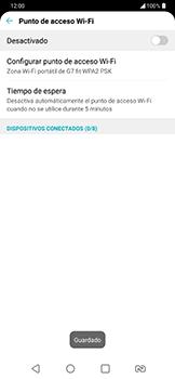 Configura el hotspot móvil - LG G7 Fit - Passo 8