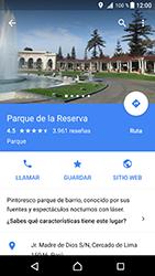 Uso de la navegación GPS - Sony Xperia XZ Premium - Passo 12