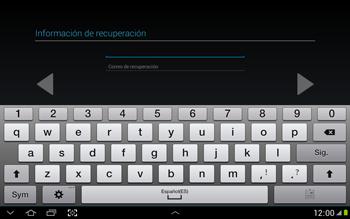Crea una cuenta - Samsung Galaxy Note 10-1 - N8000 - Passo 16