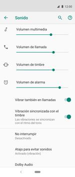 Cómo activar el modo de vibración o silencio - Motorola One Vision (Single SIM) - Passo 5