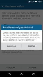 Restaura la configuración de fábrica - HTC One M9 - Passo 7