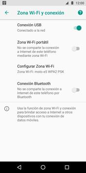 Comparte la conexión de datos con una PC - Motorola Moto E5 - Passo 8