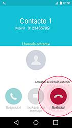 Contesta, rechaza o silencia una llamada - LG K4 - Passo 4
