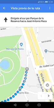 Uso de la navegación GPS - Huawei Y6 2018 - Passo 16