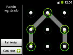 Desbloqueo del equipo por medio del patrón - Samsung Galaxy Y Pro GT - B5510 - Passo 10