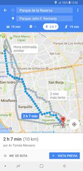 Uso de la navegación GPS - Samsung Galaxy S9 Plus - Passo 16