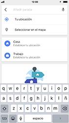 Uso de la navegación GPS - Apple iPhone 7 - Passo 12