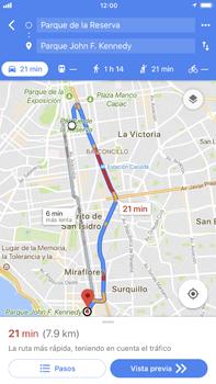 Uso de la navegación GPS - Apple iPhone 8 Plus - Passo 14
