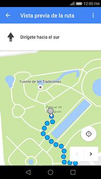 Uso de la navegación GPS - Huawei G8 Rio - Passo 19