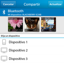 Transferir fotos vía Bluetooth - BlackBerry Q5 - Passo 8