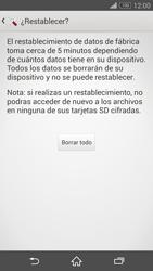 Restaura la configuración de fábrica - Sony Xperia Z3 D6603 - Passo 7