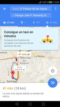 Uso de la navegación GPS - Huawei Mate S - Passo 15