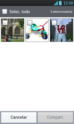 Transferir fotos vía Bluetooth - LG Optimus L7 - Passo 6