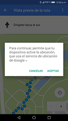 Uso de la navegación GPS - Huawei P9 Lite 2017 - Passo 18