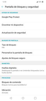 Cómo cambiar el código de bloqueo de pantalla de tu teléfono - LG K40S - Passo 4