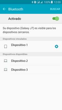Conecta con otro dispositivo Bluetooth - Samsung Galaxy J7 - J700 - Passo 8
