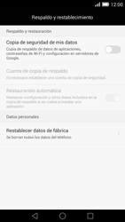 Restaura la configuración de fábrica - Huawei Ascend Mate 7 - Passo 5