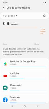 Verificar el uso de datos por apps - Samsung Galaxy S10 Lite - Passo 6