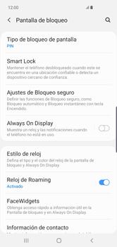 Activa o desactiva el uso del código de seguridad - Samsung S10+ - Passo 12
