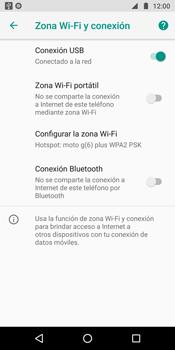 Comparte la conexión de datos con una PC - Motorola Moto G6 Plus - Passo 8