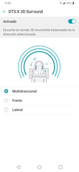 Cómo reproducir sonido con DTS: x3D Surround - LG K50s - Passo 12