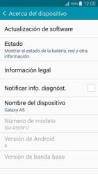 Actualiza el software del equipo - Samsung Galaxy A5 - A500M - Passo 6