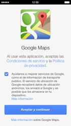 Uso de la navegación GPS - Apple iPhone 5s - Passo 4