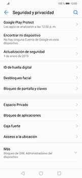 Activa o desactiva el uso del código de seguridad - Huawei Mate 20 Lite - Passo 3