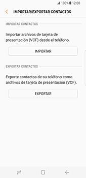 ¿Tu equipo puede copiar contactos a la SIM card? - Samsung Galaxy S8 - Passo 8
