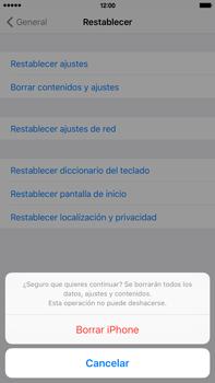 Restaura la configuración de fábrica - Apple iPhone 6 Plus - Passo 7