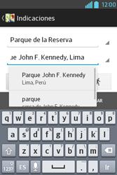 Uso de la navegación GPS - LG L4 II - Passo 15