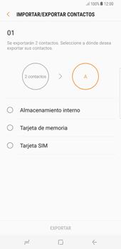 ¿Tu equipo puede copiar contactos a la SIM card? - Samsung Galaxy S8+ - Passo 9