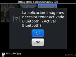 Transferir fotos vía Bluetooth - BlackBerry Curve 9320 - Passo 12