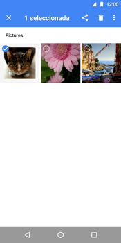 Transferir fotos vía Bluetooth - Motorola Moto E5 - Passo 7