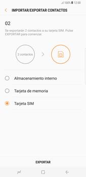 ¿Tu equipo puede copiar contactos a la SIM card? - Samsung Galaxy S8+ - Passo 12