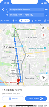 Uso de la navegación GPS - Apple iPhone X - Passo 18