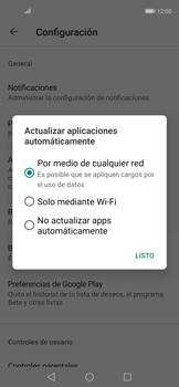Cambiar configuración de actualizaciones de aplicaciones - Huawei Nova 5T - Passo 5