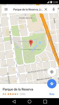 Uso de la navegación GPS - LG G4 - Passo 9