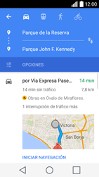 Uso de la navegación GPS - LG C50 - Passo 17