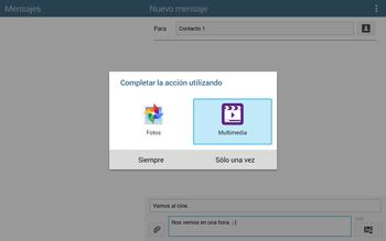 Envía fotos, videos y audio por mensaje de texto - Samsung Galaxy Note Pro - Passo 15