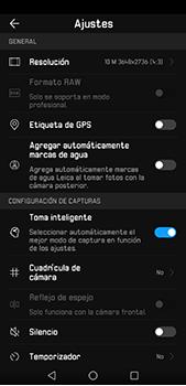 Opciones de la cámara - Huawei P20 Pro - Passo 8