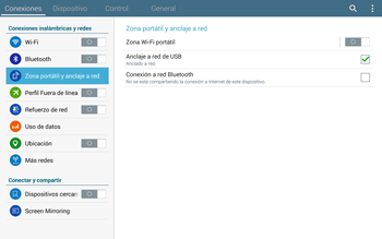 Comparte la conexión de datos con una PC - Samsung Galaxy Note Pro - Passo 7