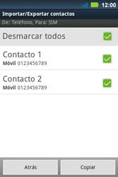 ¿Tu equipo puede copiar contactos a la SIM card? - Motorola MotoSmart Me  XT303 - Passo 10