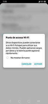 Configura el hotspot móvil - LG G7 Fit - Passo 9