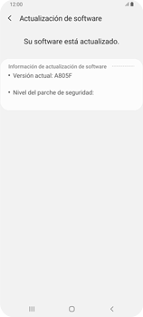 Actualiza el software del equipo - Samsung Galaxy A80 - Passo 8