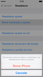 Restaura la configuración de fábrica - Apple iPhone 5s - Passo 7