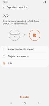 ¿Tu equipo puede copiar contactos a la SIM card? - Samsung Galaxy A50 - Passo 11