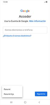 Crea una cuenta - Samsung Galaxy A10 - Passo 5