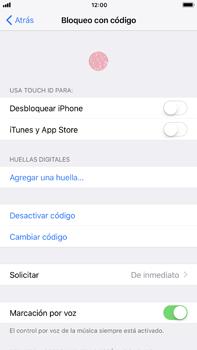 Activa o desactiva el uso del código de seguridad - Apple iPhone 8 Plus - Passo 7
