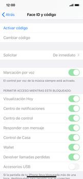 Activa o desactiva el uso del código de seguridad - Apple iPhone 11 Pro - Passo 3